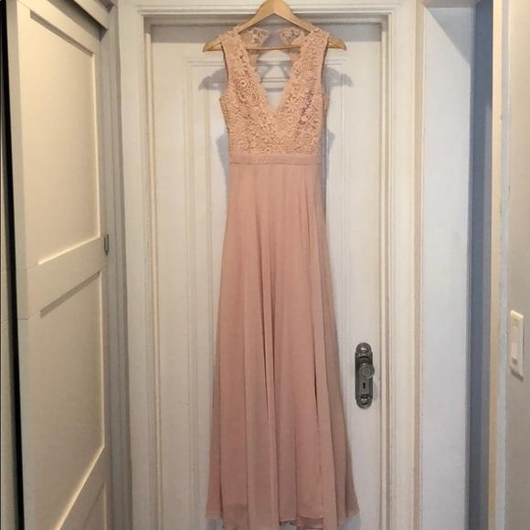 014a9202f7e6 Lulu s Dresses   Skirts - Do Re Mi Blush Pink Lace Backless Maxi Dress